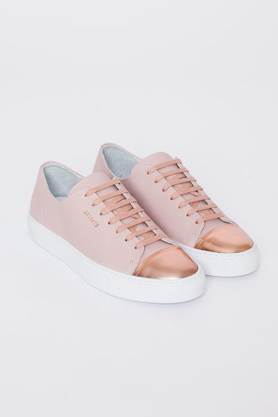Nude & Rose Gold Cap Toe Sneaker