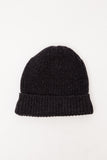 Black Melange Knit Watch Cap