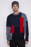 Mohair Panel Crewneck