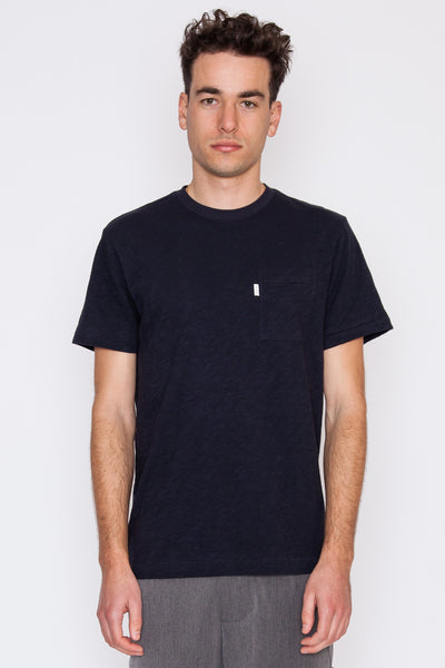 Dark Midnight Loose Slub S/S Pocket Tee