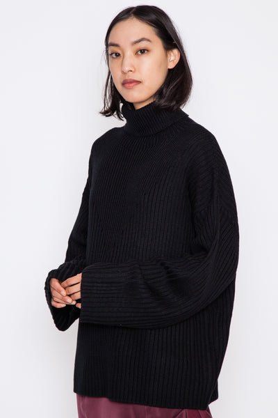 Black Serat Sweater
