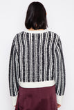 Black/White Nabila Chenille Sweater