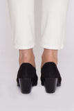Black Suede Falk Wholecut Pump