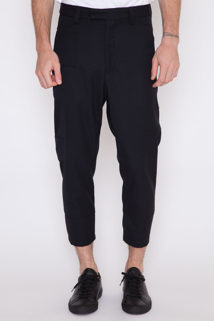 Cropped Patch Pant