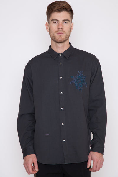Chest Embroidery Shirt