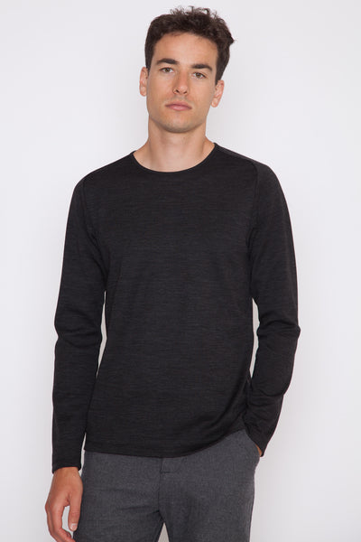 Wool Silk L/S Crewneck