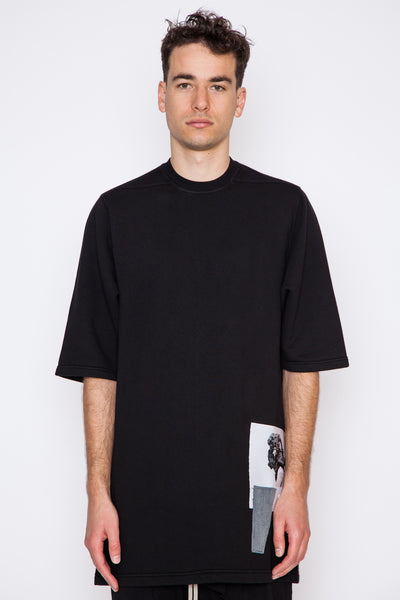 Patched Fleece Jumbo Tee