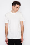 White Tegan Hem Detail T-Shirt