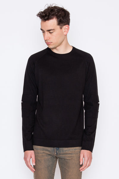 Elbow Slit Crewneck