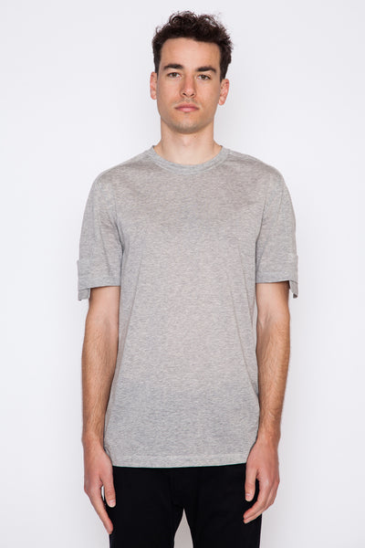 Perforated Jersey Sleeve Pocket S/S Crewneck