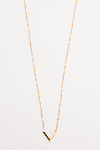 Gold Vermeil Mini Angular Necklace