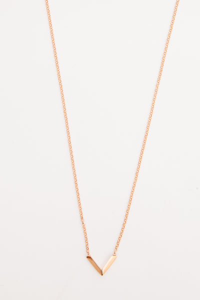 Rose Gold Vermeil Mini Angular Necklace