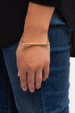 Gold Thin Screw Cuff