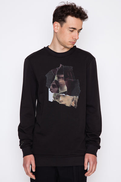 Taitt Collage Print Crewneck