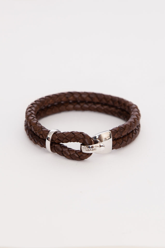 Brown Beacon Leather Bracelet