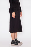 Black Gathered Skirt