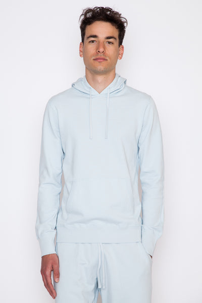 Sky Blue Lightweight Terry Pullover Hoodie