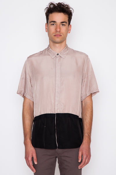 Two-Toned Taped S/S Shirt