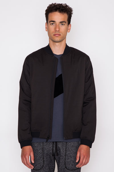 Black Honeycomb Bomber