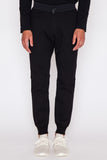 Black Terry/Nylon Hybrid Trail Pant