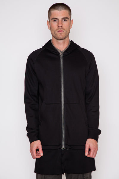 Zip Away Long Hoodie