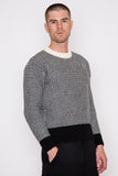 Two-Tone Contrast Detail Sweater