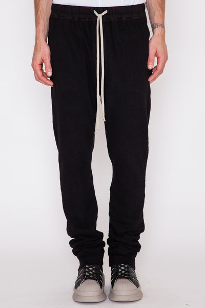 Black Slub Berlin Drawstring Pant