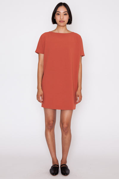 Coral Angle Mini Dolman Open Back Dress