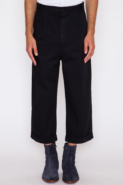 Black Say Cotton Pant
