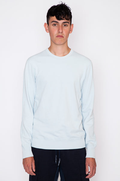 Sky Blue Lightweight Terry L/S Crew
