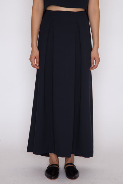 Black-Blue Ring Maxi Skirt