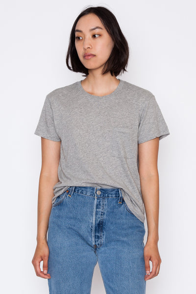 Heather Grey 1970s Boyfriend Tee