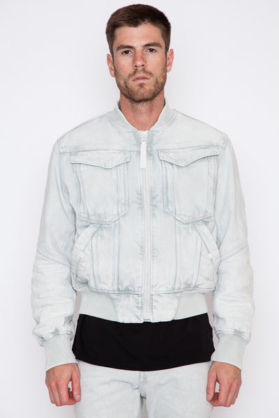 Blue Deline Bomber Jacket