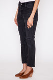 Black High Rise Ankle Crop