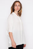 Three Leaf Silk Dolman Top