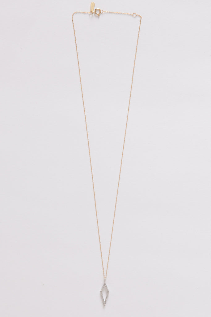 Long Open Pavé Diamond Necklace