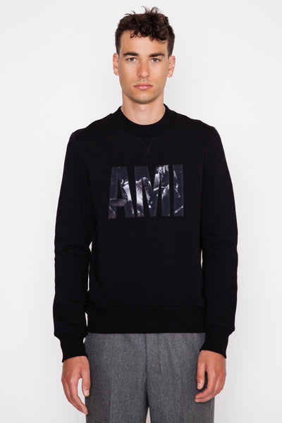 Flower Big Ami Patch Sweatshirt