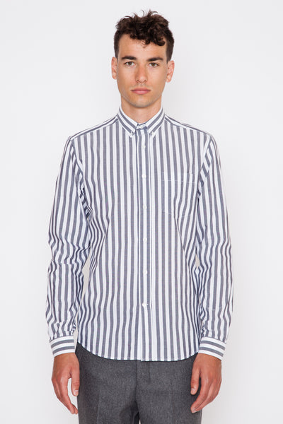 Heavy Stripe Button Down Shirt