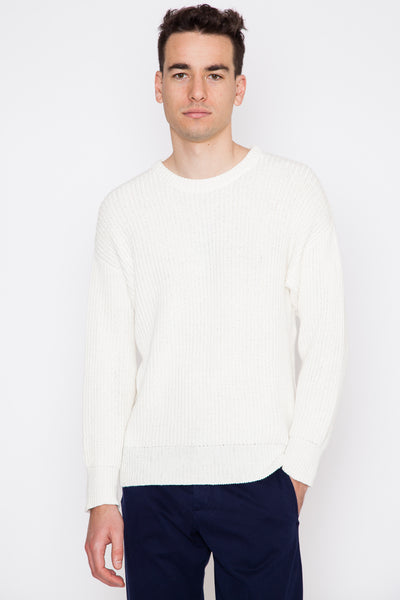 Large Rib Crewneck Sweater