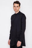 Black Linen Carm Shirt