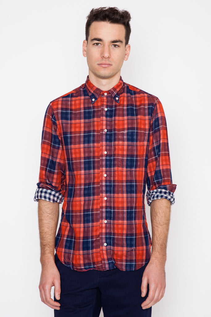 L/S Japanese Double-Faced Plaid/Gingham Check