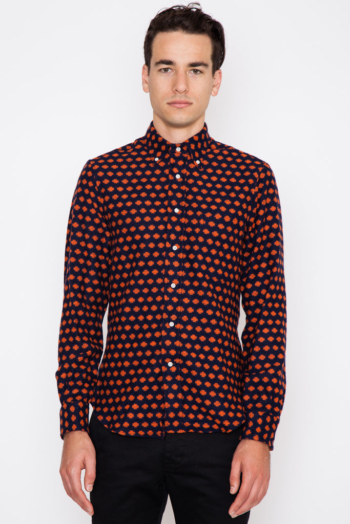 Orange Portuguese Flannel Dot