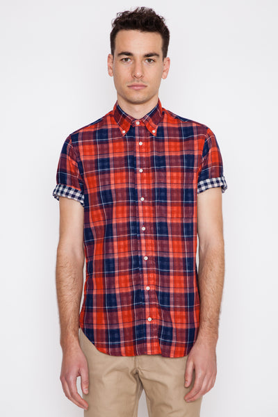 S/S Japanese Double-Faced Plaid/Gingham Check