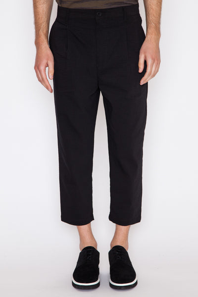 Micro Seersucker Cropped Trouser