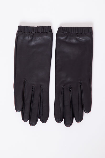 Black Stall Leather Gloves