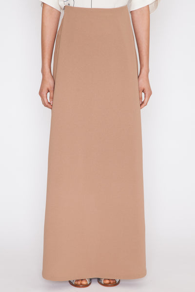 Camel Waterfall Deep Pleated Maxi Skirt SS16