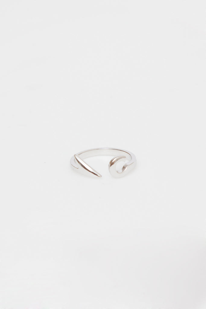 Sterling Silver Fish Hook Ring