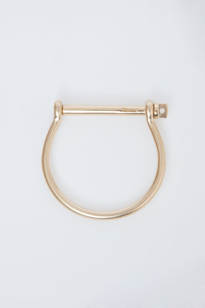 Yellow Gold Screw Cuff