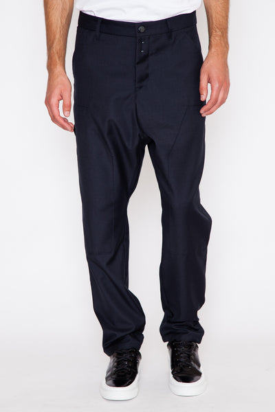 Drop Crotch Modified Double Knee Wool Pant