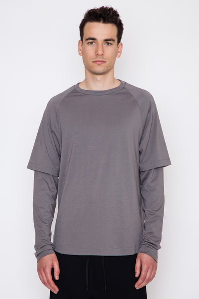 Cabot Double Sleeve Crewneck T-Shirt